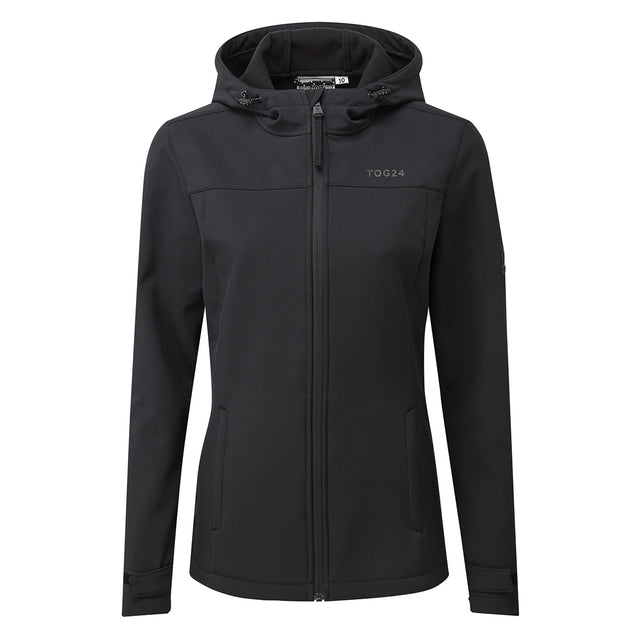 Keld Womens Softshell Hooded Jacket - Black image 6