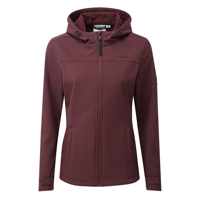 Keld Womens Softshell Hooded Jacket - Deep Port image 5