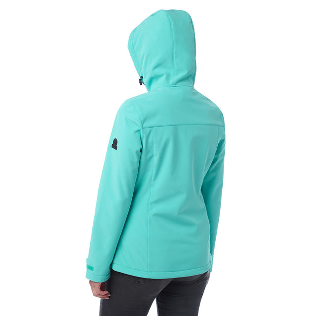 Keld Womens Softshell Hooded Jacket - Ceramic Blue image 3