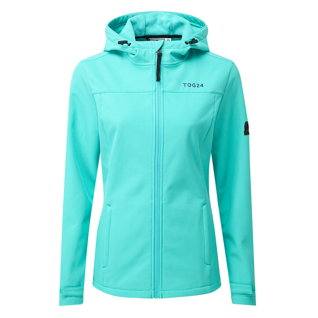 Keld Womens Softshell Hooded Jacket - Ceramic Blue image 1