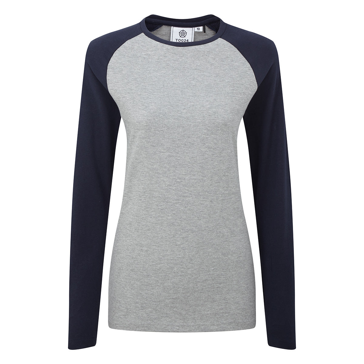 Kilwick Womens Long Sleeve Raglan T-Shirt - Grey/Navy image 4