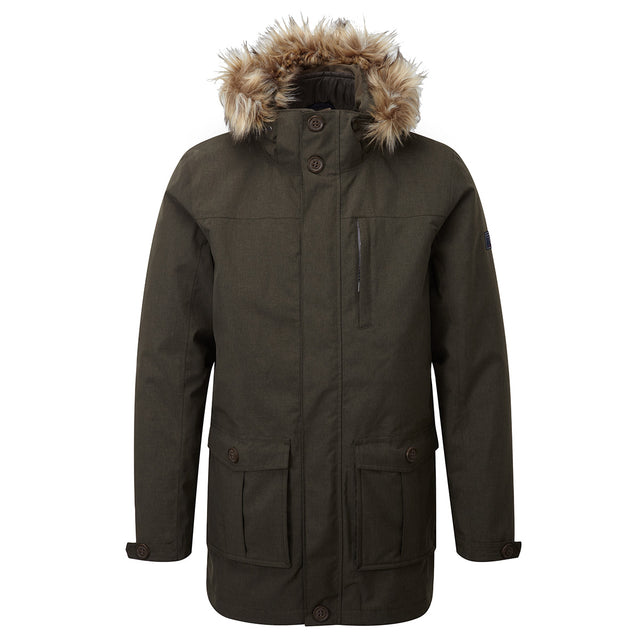 Kingston Mens Milatex 3-In-1 Jacket - Dark Olive Marl