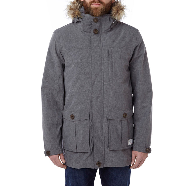 Kingston Mens Milatex 3-In-1 Jacket - Grey Marl image 2