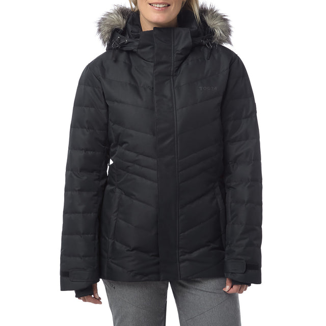 Kirby Womens Down Filled Ski Jacket - Black image 2