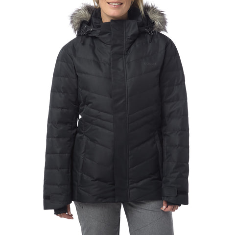 Kirby Womens Down Filled Ski Jacket - Black