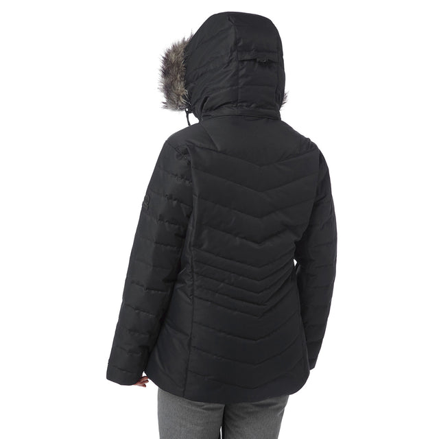 Kirby Womens Down Filled Ski Jacket - Black image 3