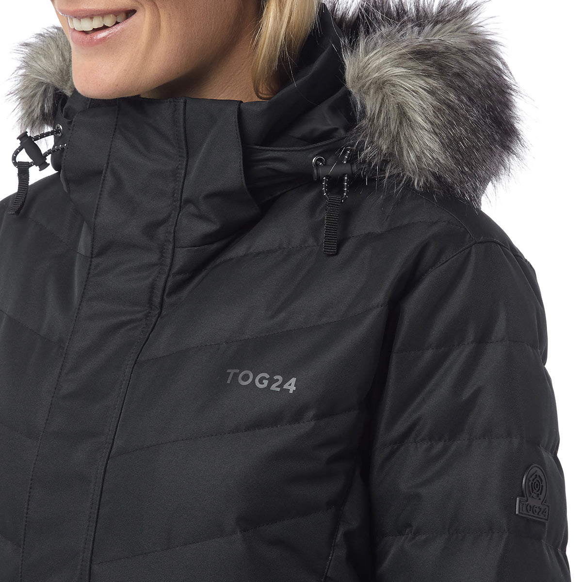 Kirby Womens Down Filled Ski Jacket - Black image 4