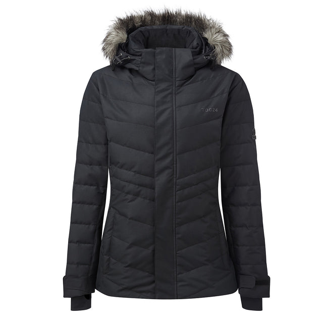 Kirby Womens Down Filled Ski Jacket - Black image 1