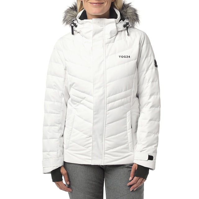Kirby Womens Down Filled Ski Jacket - White image 2