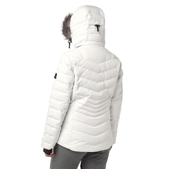 Kirby Womens Down Filled Ski Jacket - White image 3
