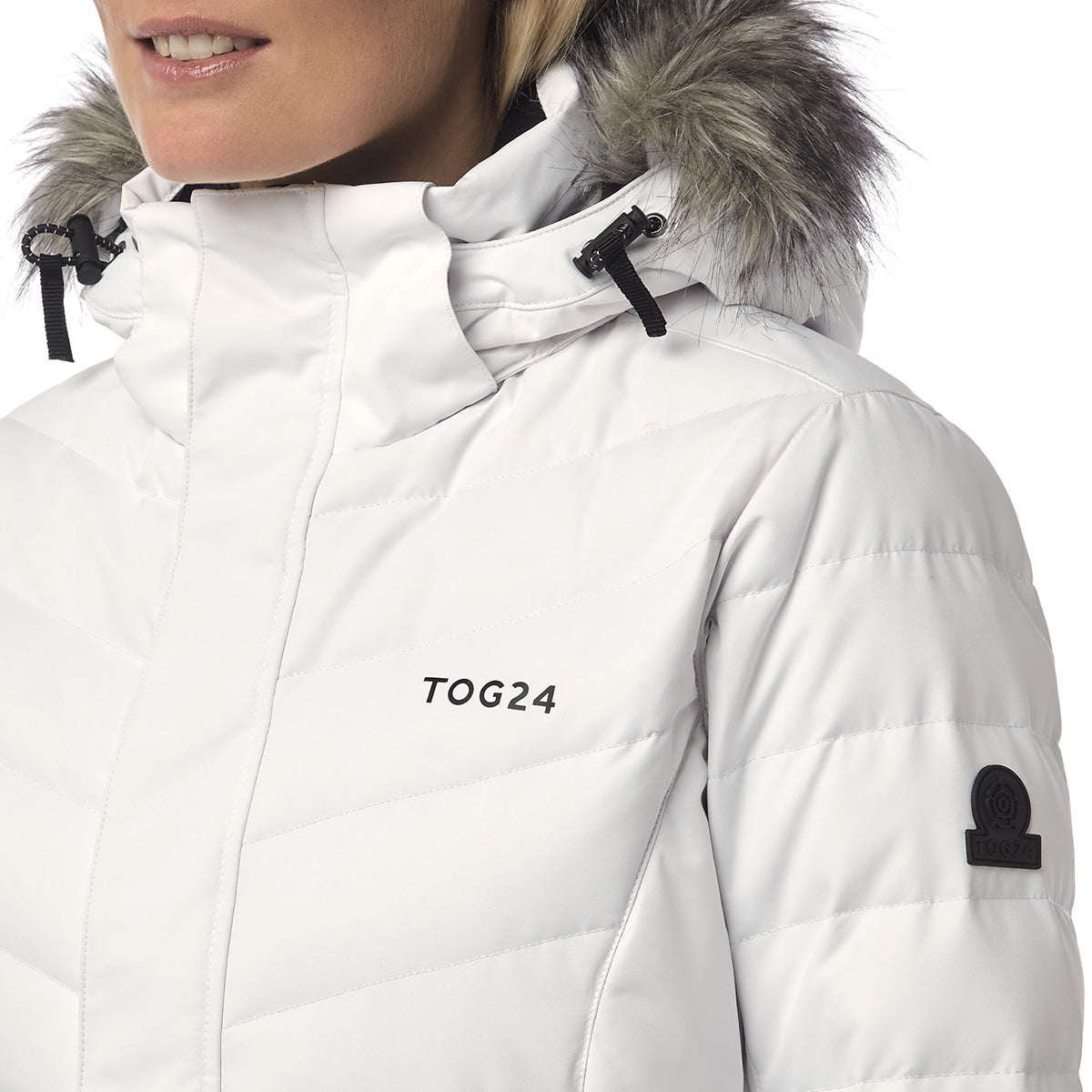Kirby Womens Down Filled Ski Jacket - White image 4