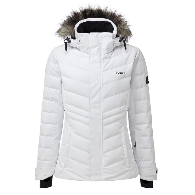 Kirby Womens Down Filled Ski Jacket - White image 1