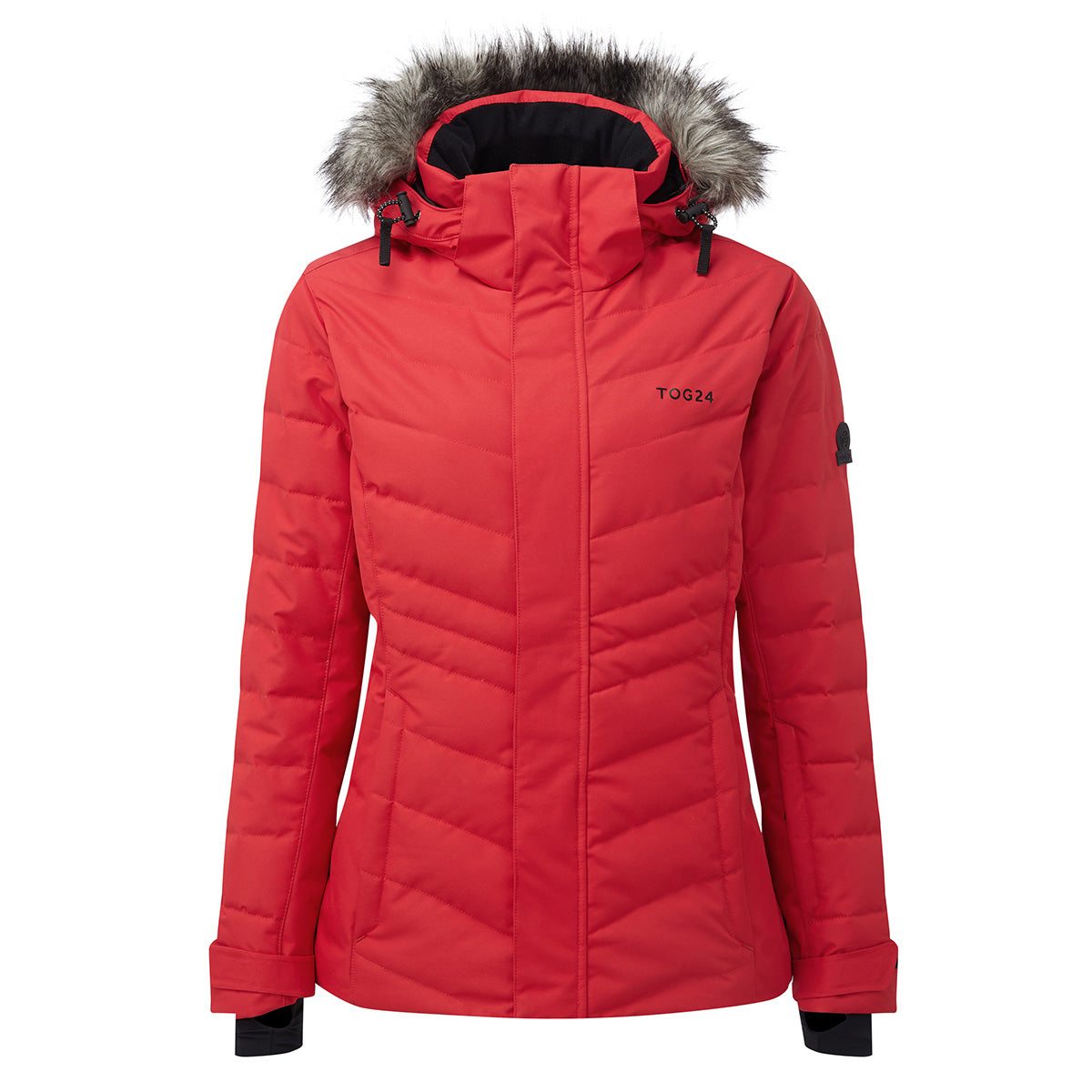 Kirby Womens Down Filled Ski Jacket - Rouge Red image 4
