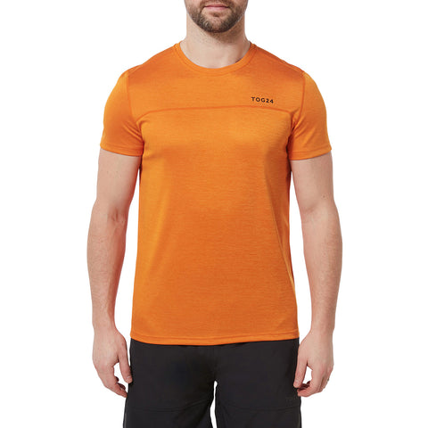 Lambert Mens Performance T-Shirt - Satsuma