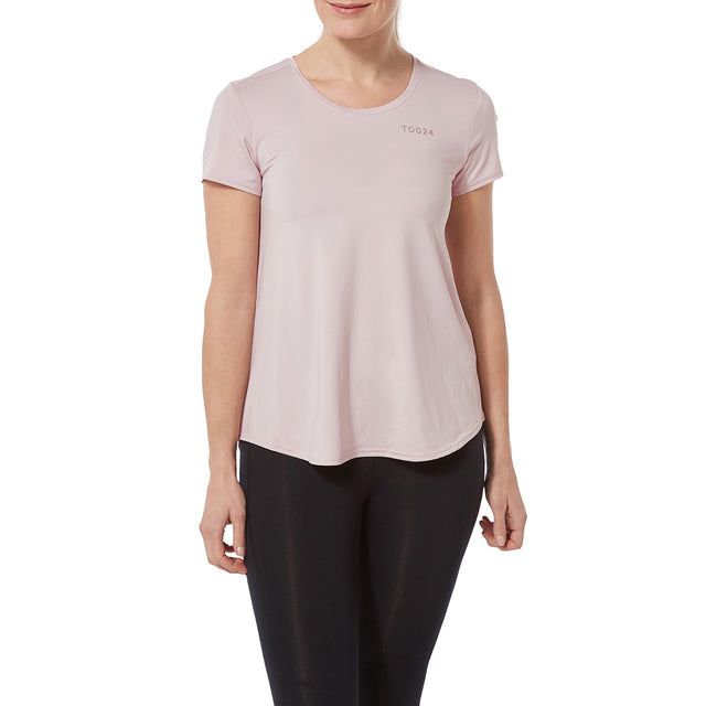 Lawson Womens Performance T-Shirt - Chalk Pink image 2