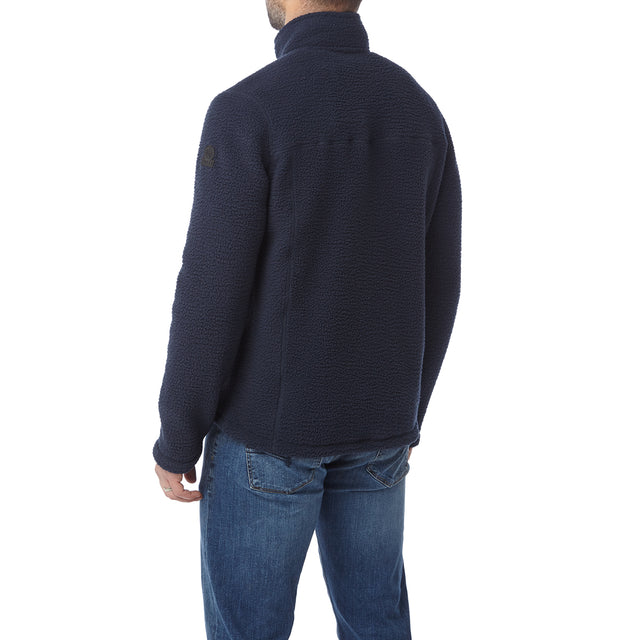 Leonard Mens Sherpa Fleece Jacket - Navy image 3