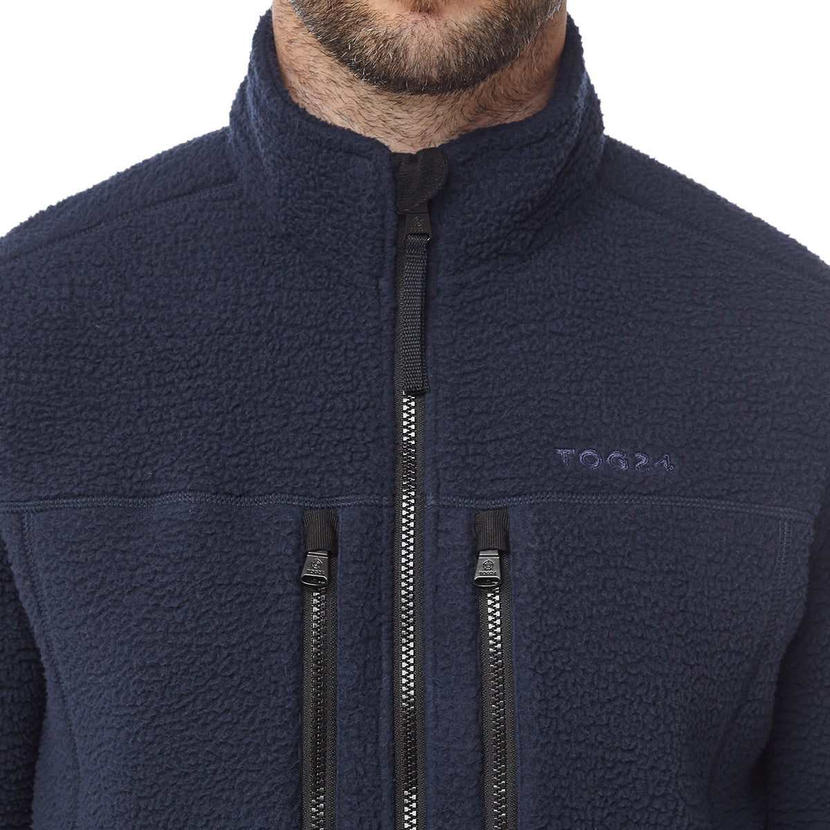Leonard Mens Sherpa Fleece Jacket - Navy image 4