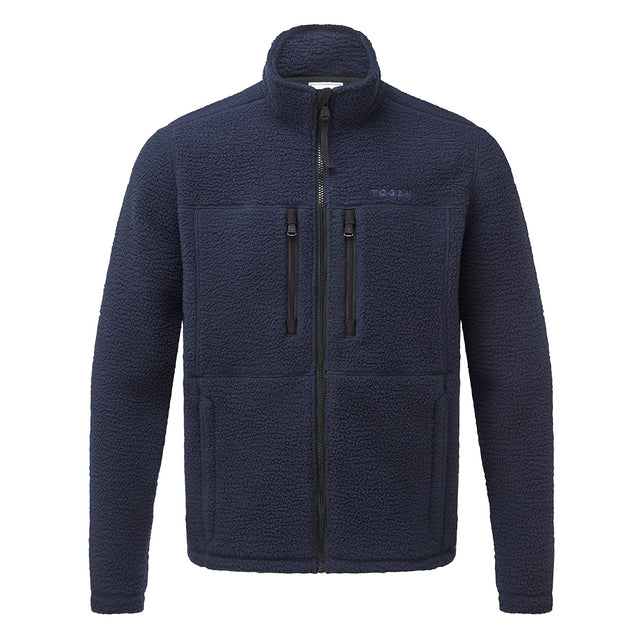 Leonard Mens Sherpa Fleece Jacket - Navy image 1