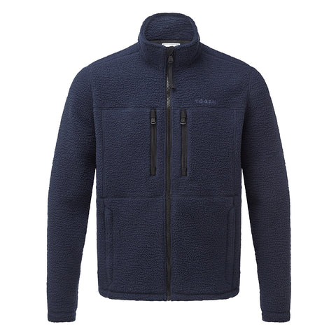 Leonard Mens Sherpa Fleece Jacket - Navy