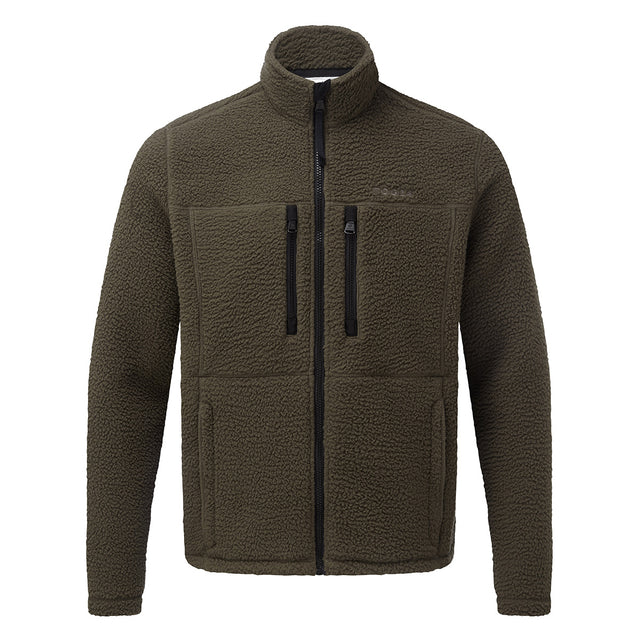 Leonard Mens Sherpa Fleece Jacket - Dark Khaki image 1