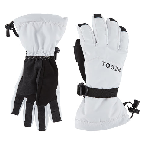 Lockton Waterproof Ski Gloves - White