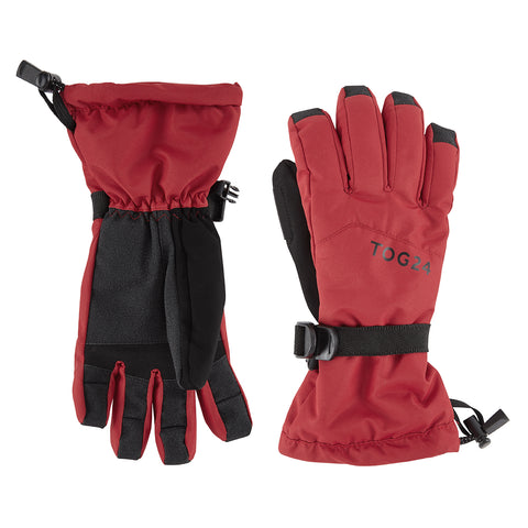 Lockton Waterproof Ski Gloves - Chilli Red