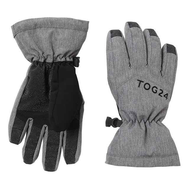 Lockton Kids Waterproof Ski Gloves - Dark Grey Marl