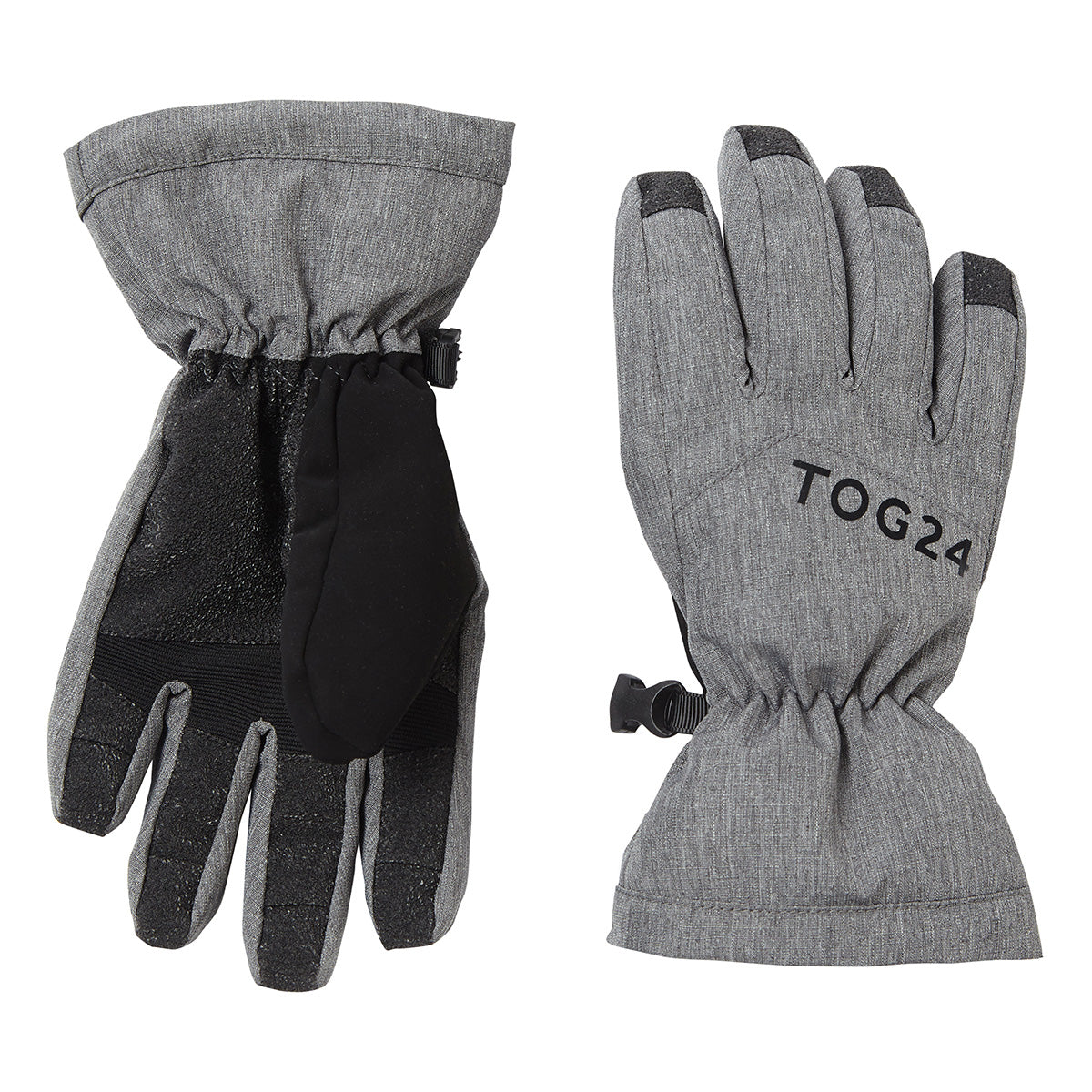 Lockton Waterproof Ski Gloves - Dark Grey Marl