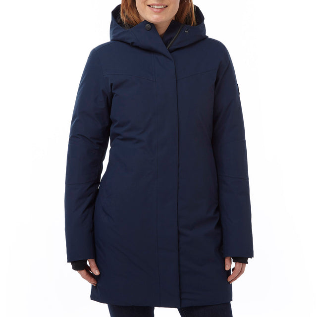 Luxe Womens Milatex/Down Jacket - Navy image 2