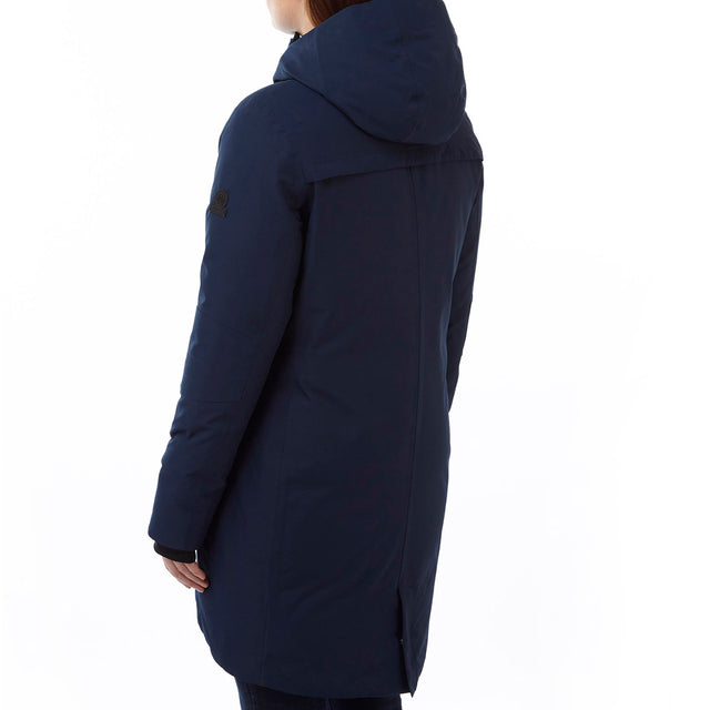 Luxe Womens Milatex/Down Jacket - Navy image 3