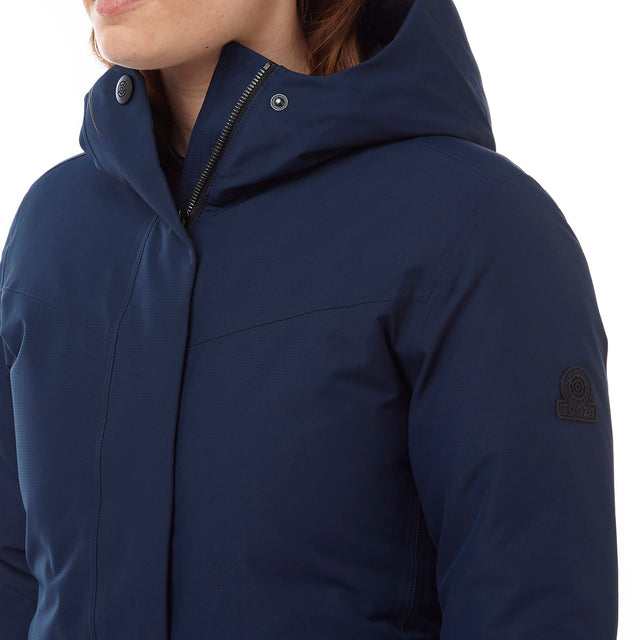 Luxe Womens Milatex/Down Jacket - Navy image 5