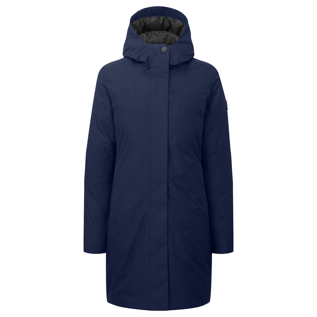Luxe Womens Milatex/Down Jacket - Navy image 1