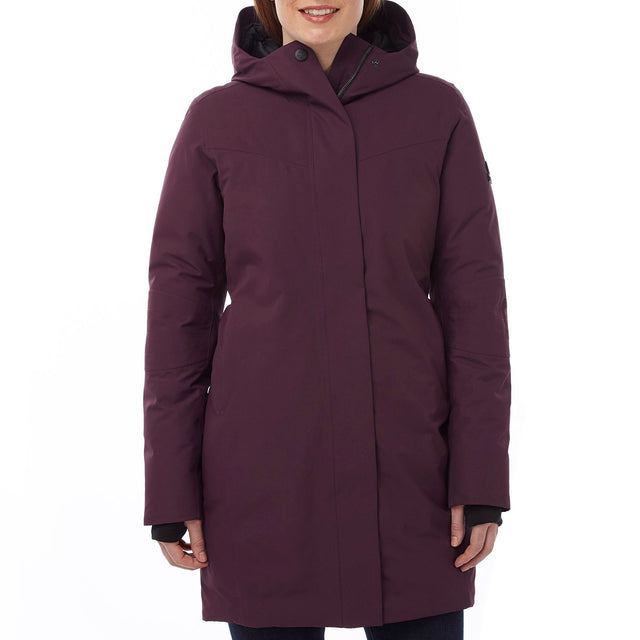 Luxe Womens Milatex/Down Jacket - Deep Port image 2