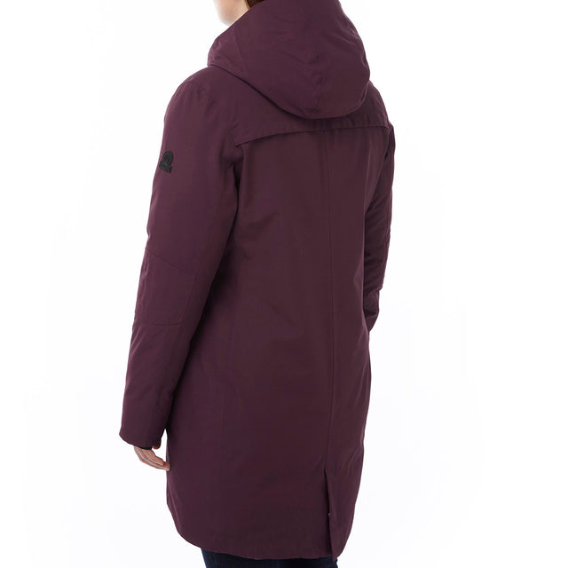 Luxe Womens Milatex/Down Jacket - Deep Port image 3