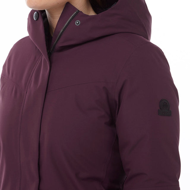 Luxe Womens Milatex/Down Jacket - Deep Port image 5