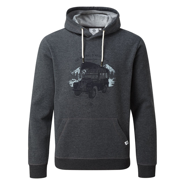 Macoy Mens Hoody Search Engine - Dark Grey Marl image 5