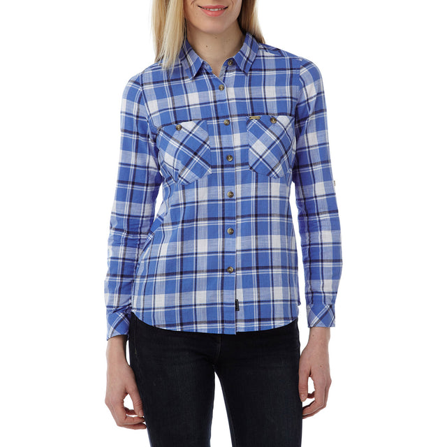 Madeline Womens Long Sleeve Shirt - Marina Blue Check image 2
