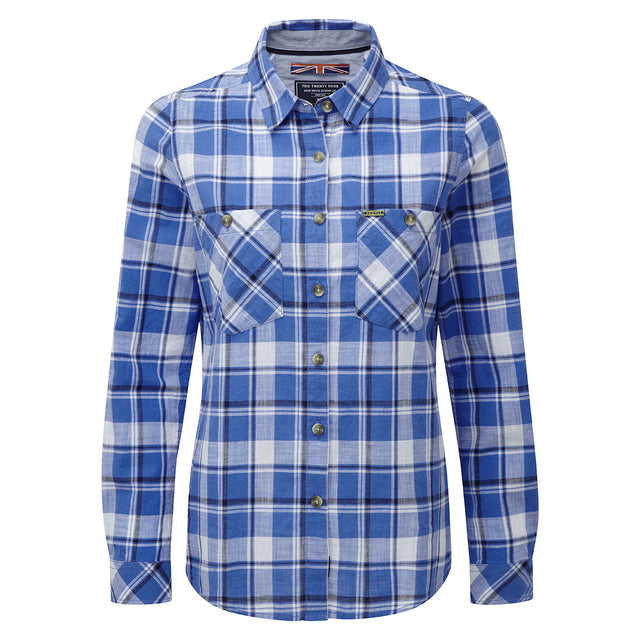 Madeline Womens Long Sleeve Shirt - Marina Blue Check image 1