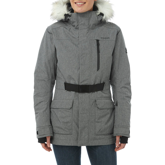Magna Womens Insulated Ski Jacket - Grey Marl image 2
