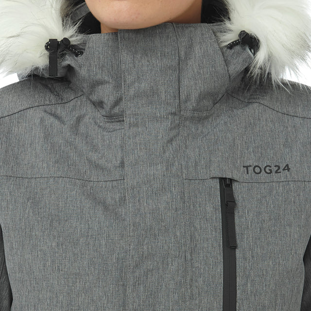 Magna Womens Insulated Ski Jacket - Grey Marl image 5