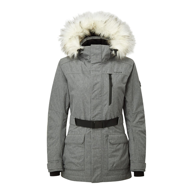 Magna Womens Insulated Ski Jacket - Grey Marl image 1