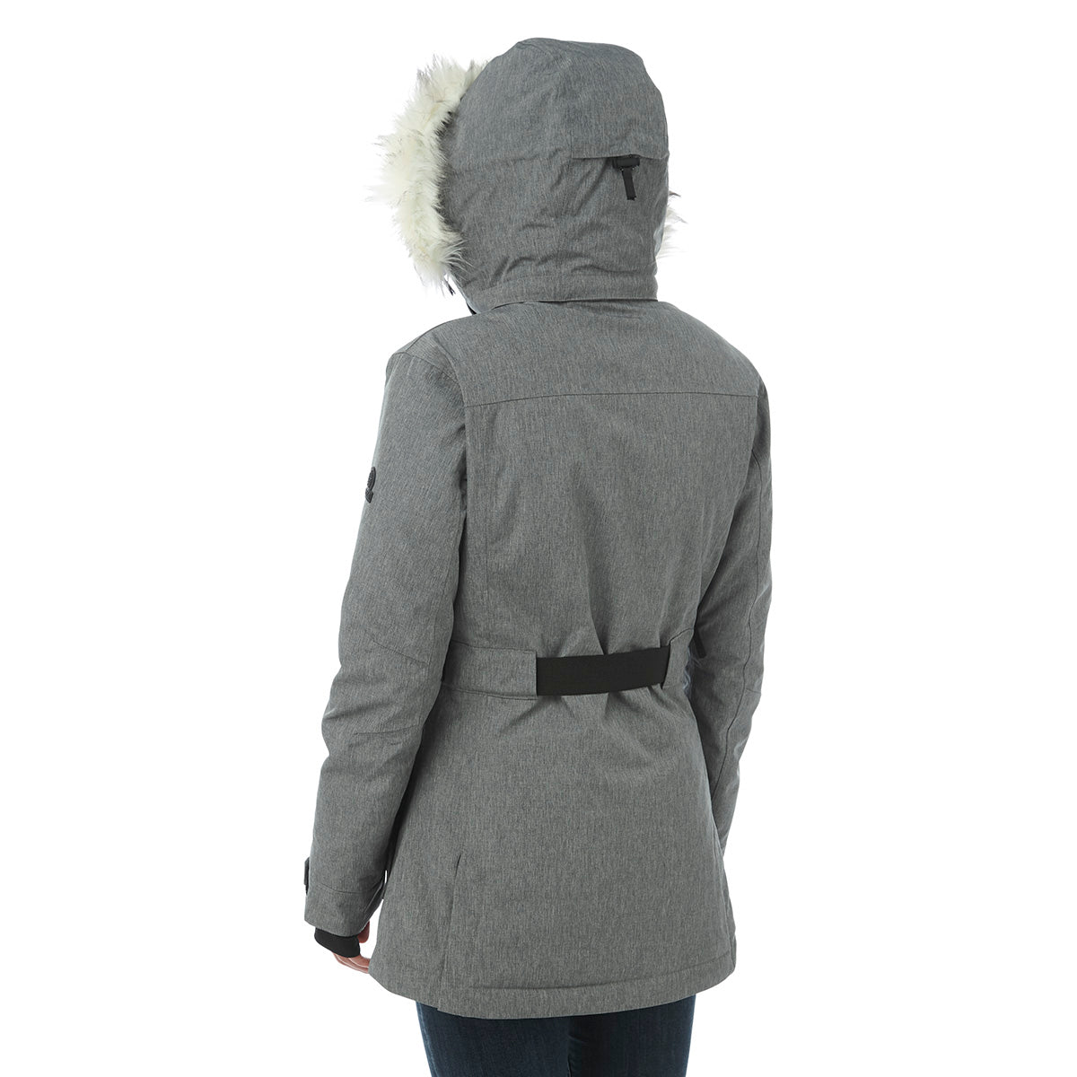 Magna Womens Insulated Ski Jacket - Grey Marl image 4