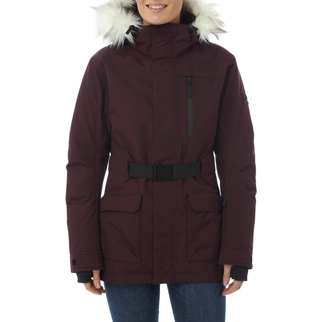 Magna Womens Insulated Ski Jacket - Deep Port Marl image 2