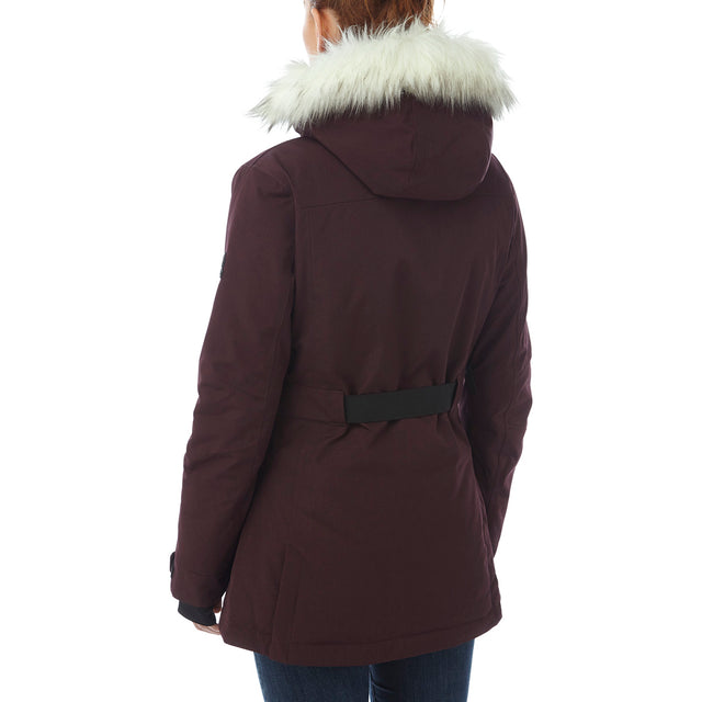 Magna Womens Insulated Ski Jacket - Deep Port Marl image 3