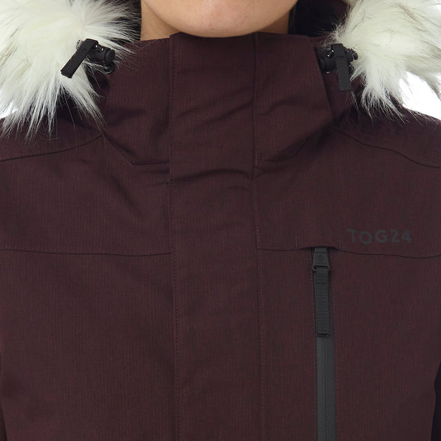 Magna Womens Insulated Ski Jacket - Deep Port Marl image 5