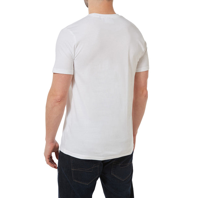 Malton Mens Graphic T-Shirt Rose - White image 3