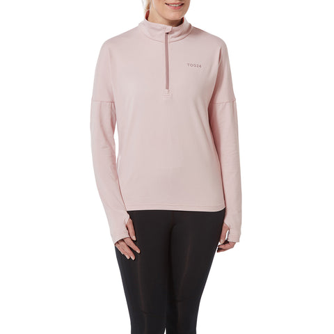 Marples Womens Performance Zipneck - Chalk Pink