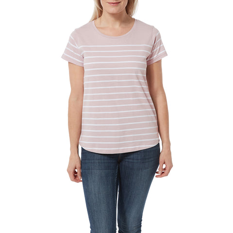 Morigan Womens T-Shirt - Chalk Pink Stripe