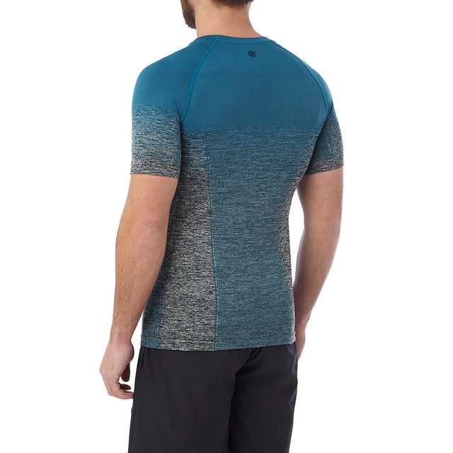 Murphy Mens Seamless Performance T-Shirt - Lagoon Blue Gradient image 3