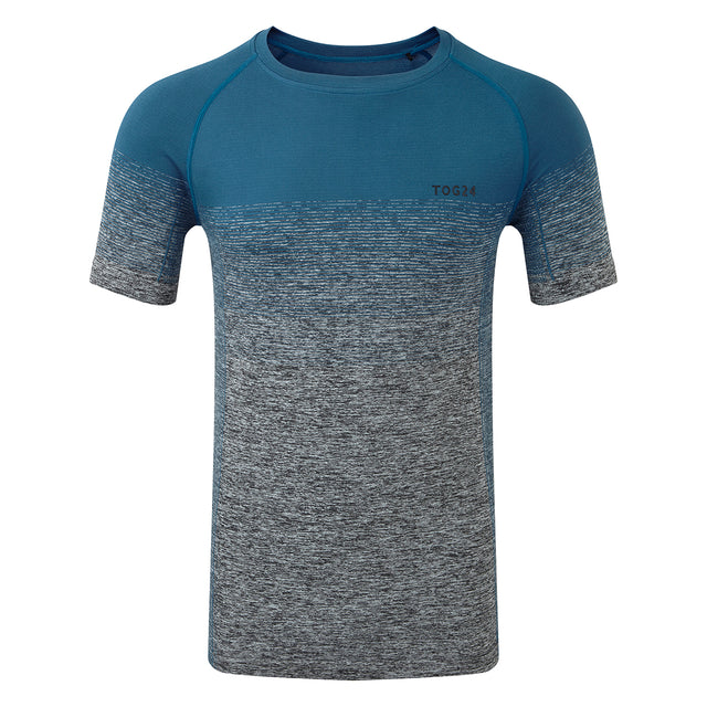 Murphy Mens Seamless Performance T-Shirt - Lagoon Blue Gradient image 1